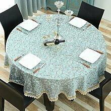 Tischdecke Runde Tischdecke Blau Frisch Haushalts