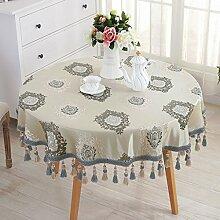 Tischdecke Runde Tischdecke Europäische Große