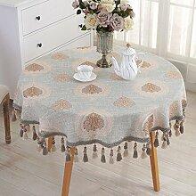 Tischdecke Runde Tischdecke Europäische