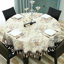 Tischdecke Runde Tischdecke Europäische Tuch