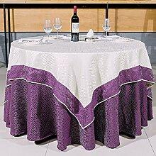 Tischdecke,Runde Tischdecke Für Hotels,Tuch Round Double Tischtuch,Restaurant Hotel Konferenzraum Tisch Tuch-B Durchmesser150cm(59inch)