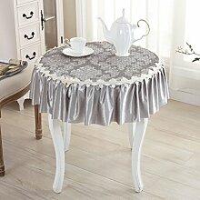 Tischdecke Runde Tischdecke, Glas Garn Tischdecke