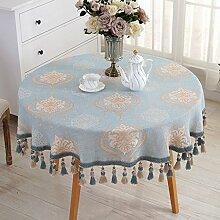 Tischdecke Runde Tischdecke Tuch Europäische