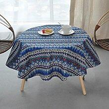 Tischdecke Runde Tischdecken, Baumwolle und Leinen