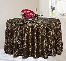 Tischdecke Runder Tisch-Hotel-Tischdecke-Tuch-Hotel-großer runder Tabellen-Tuch-Kaffeetisch-Bankett-Hochzeits-Tabellen-Tuch-Gewohnheit ( Farbe : B , größe : Round 220cm )