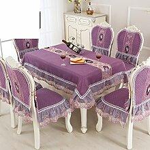 Tischdecke/Runder Tisch Tischdecke/Rechteck Tischdecke/Wohnzimmer,Europäisch,Haushalt Tischdecke-F Durchmesser180cm(71inch)