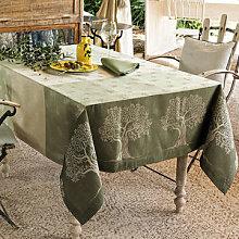 Tischdecke: Rustikale Jacquard-Tischwäsche aus