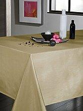 Tischdecke Seideneffekt Elfenbeinfarben rund 180