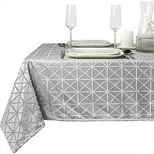 Tischdecke Sierle 140x200cm grau mit Muster Unique