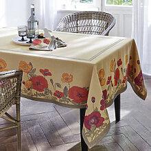 Tischdecke: Sommerliche Mohn-Tischwäsche in