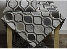 Tischdecke SOREN RETRO 85x85cm weiß grau braun Hossner (22,50 EUR / Stück)