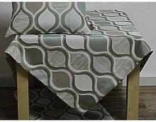 Tischdecke SOREN RETRO 85x85cm weiß grün braun