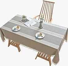 Tischdecke Staubdichte Baumwolle und Leinen