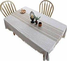 Tischdecke Stoff Baumwolle Leinen Rechteck