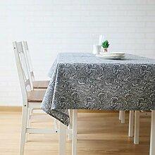 Tischdecke Stoff Baumwolle Leinen Tischdecke
