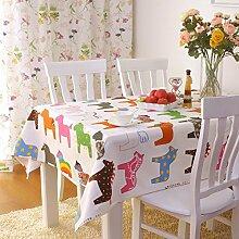 Tischdecke,Stoff Garten Baumwolle Tisch Tuch,Schreibtisch Stuhl Set,Couchtisch Tuch Stofftuch-A 145x145cm(57x57inch)