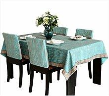 Tischdecke Stoff Tischdecke Chenille Einfache