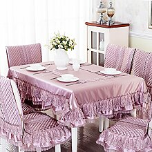 Tischdecke Stoff Tischdecke,European-style Coffee Table Cloth,Tischdecken Runden Tischdecke,Dining Chair Bezug Sessel Kit-B 130*180cm(51x71inch)