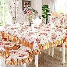 Tischdecke Stoff Tischdecke,European-style Coffee Table Cloth,Tischdecken Runden Tischdecke,Dining Chair Bezug Sessel Kit-A 150*200cm(59x79inch)
