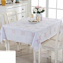 Tischdecke Stoffe Dining schreibtischunterlagen Hot-pad Pvc wasserdicht Modern Simple Verdicken sie Drucken Rechteck Hausgebrauch Europäisch-B 110x110cm(43x43inch)