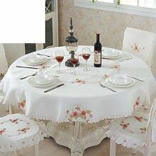 Tischdecke/Stoffe,Roundtable,Tischtuch/Hohl,Ländlichen,Tee Tischdecke-B Durchmesser180cm(71inch)