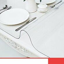 Tischdecke Teetisch matten Transparent Frosted Kristall-teller Weiches glas Verdicken sie Pvc tischdecke Wasserdicht] Burn-proof-A 100x100cm(39x39inch)