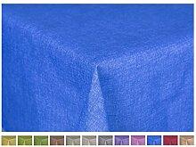 Tischdecke Textil Eckig 140 x 240 cm, 100% Baumwolle, Farbe wählbar Blau