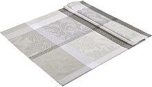 TISCHDECKE Textil Grau 130/160 cm
