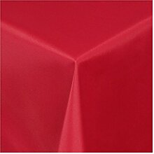 Tischdecke Textil im Damast Stil Bügelfrei 130x220 cm eckig Uni - Wein-Ro