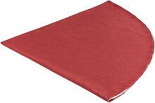 TISCHDECKE Textil Leinwand, Struktur Rot 160 cm