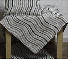Tischdecke THEA RETRO WELLEN 85x85cm grau braun Hossner (21,50 EUR / Stück)