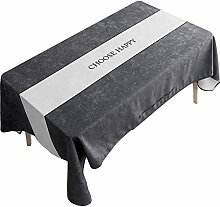 Tischdecke, Tischdecke/Baumwolle Leinen/Kein