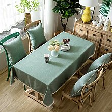 Tischdecke Tischdecke Baumwolle Leinen Tischdecke