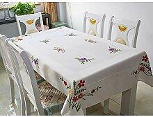 Tischdecke Tischdecke Handbestickte Wolle Bestickt