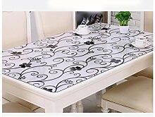 Tischdecke Tischläufertuch -Transparent Plastik Tischtuch, Kristallplatte Plastik Tischläufer ( Farbe : A thickness of 1.0 mm , größe : 80*130cm )