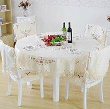 Tischdecke Tischtuch,Einfache Tabelle Tuch Polster,Garten Hinter Dem Haus Tuch-A Durchmesser150cm(59inch)