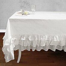Tischdecke Tischtuch Tafeltuch mit Rüsche Volant