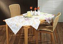 Tischdecke Tischtuch Tischwäsche Polyester & Baumwolle grün, orange, blau uvm., Maße:80x80 cm