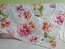 Tischdecke Türkis Rosa Pastell Blumen 85x85