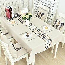 Tischdecke/verdicken sie,baumwolle-leinen tischdecke/[nordeuropa],tischtuch/rechteck tischdecke/runde tischdecke/schrankabdeckung tv-D 230x140cm(91x55inch)