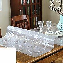 Tischdecke/verdicken sie,kristall-teller/transparente tabelle mat/tischdecke pvc weichglas/wasserdicht],burn-proof,kunststoff tischdecken/dining schreibtischunterlagen/längliche tischdecke-C 70x120cm(28x47inch)