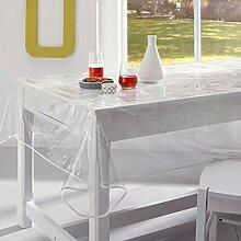 Tischdecke Wachstuch transparent PVC 150x 200