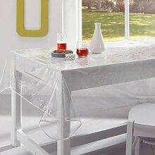 Tischdecke Wachstuch transparent PVC 150x 240