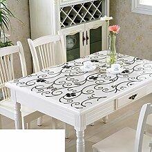 Tischdecke/Wasser Und Öl Beweis Tischdecke/Weichglas Tischdecke/Kunststoff Tischdecke-A 90x130cm(35x51inch)