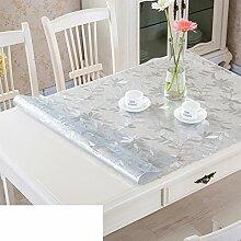 Tischdecke/Wasser Und Öl Beweis Tischdecke/Weichglas Tischdecke/Kunststoff Tischdecke-D 90x130cm(35x51inch)