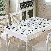 Tischdecke/Wasser Und Öl Beweis Tischdecke/Weichglas Tischdecke/Kunststoff Tischdecke-J 90x140cm(35x55inch)