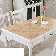 Tischdecke/Wasser Und Öl Beweis Tischdecke/Weichglas Tischdecke/Kunststoff Tischdecke-E 80x120cm(31x47inch)