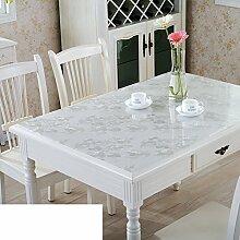 Tischdecke/Wasser Und Öl Beweis Tischdecke/Weichglas Tischdecke/Kunststoff Tischdecke-F 60x120cm(24x47inch)