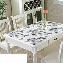 Tischdecke/Wasser Und Öl Beweis Tischdecke/Weichglas Tischdecke/Kunststoff Tischdecke-H 90x140cm(35x55inch)