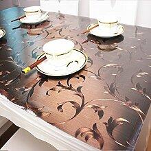 Tischdecke/wasserdicht,burn-proof,Öl-beweis,einweg,pvc,weichglas,kunststoff tischdecken/kristall-teller,rechteckiger tee tisch matte/untersetzer-A 80x130cm(31x51inch)